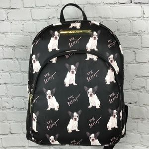 NWT Betsey Johnson French Bulldog Backpack